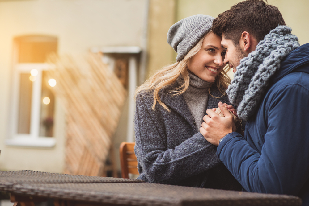 Pretty loving couple dating outside - How to Tell if a Libra Man Likes You
